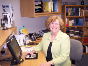Catherine Simons, one of EPM's Receptionists