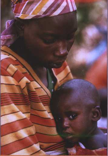Rwandan mother and   child