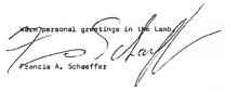 Francis Schaeffer signature