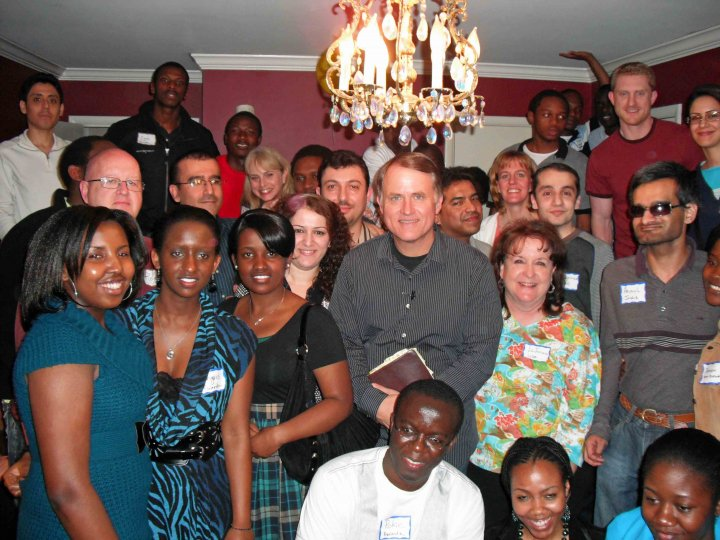 Randy Alcorn in Little Rock with international students