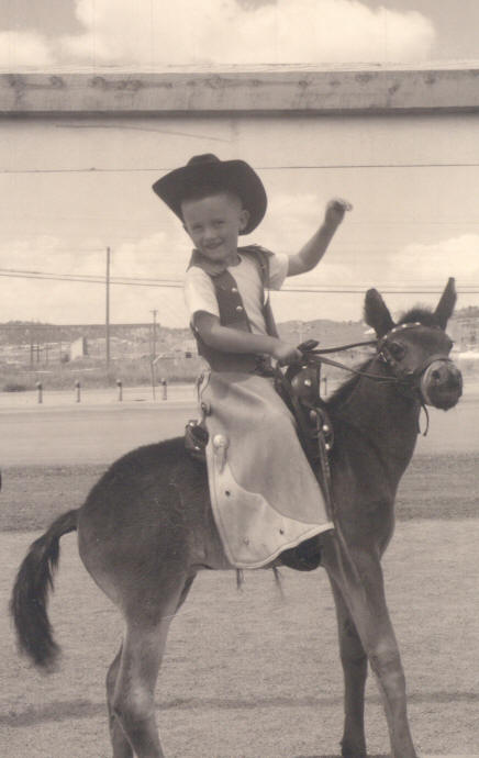 young Randy on horse