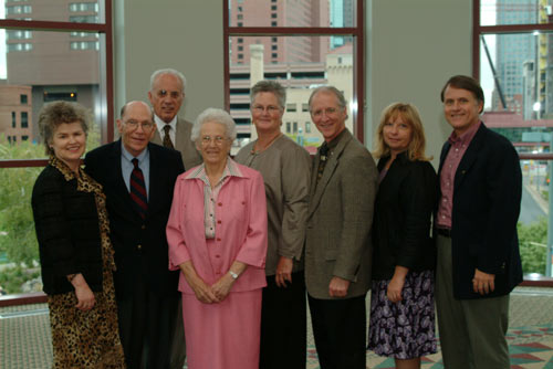 Speakers at Desiring God Conference 2007: Jerry Bridges, John MacArthur, Helen Roseveare, John Piper and Randy Alcorn. Also, Janet Bridges, Noël Piper and Nanci Alcorn.