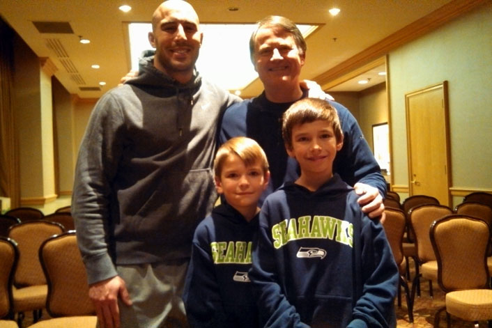 Chris Maragos with Randy's grandson Jake and Ty