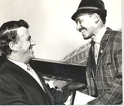 Sir Edmund Hillary of New Zealand and Tenzing Norgay of Nepal