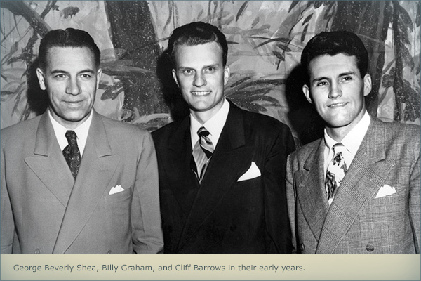 George Beverly Shea, Billy Graham, and Cliff Barrows