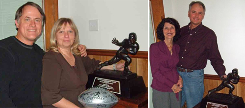 Alcorns and Tebows with Heisman trophy