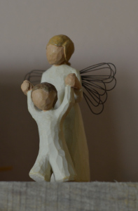 Angel with Child Figurine
