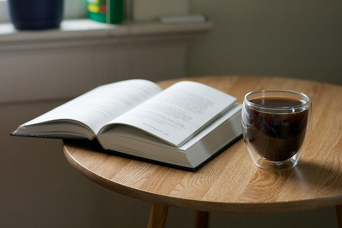 Bible and Coffee on Table