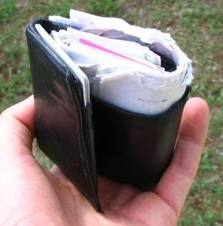 bulging wallet