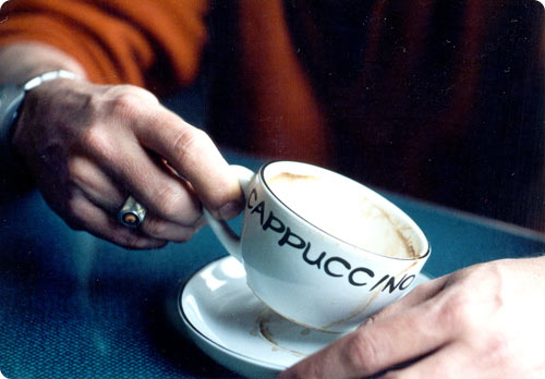 Cappuccino and conversation