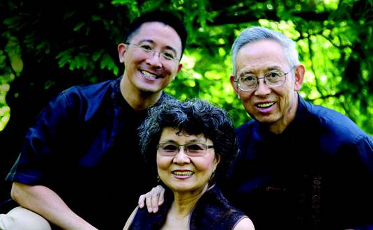 Christopher Yuan with his parents