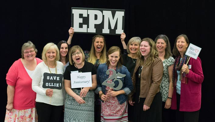 EPM staff at a photo booth