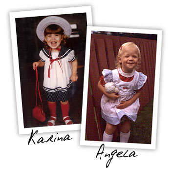 Karina and Angela as children