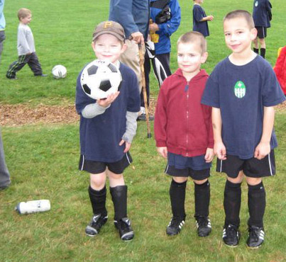Grandsons on soccer team