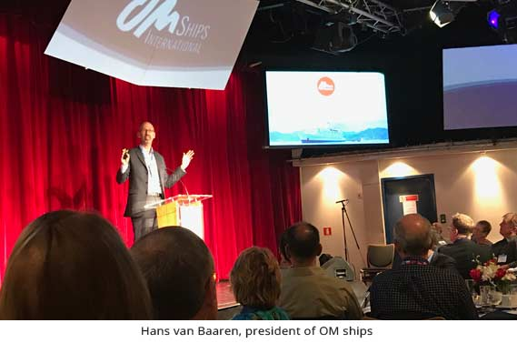 Hans Van Baaran, president of OM ships, speaking