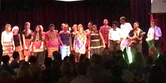 Logos crew performing