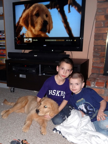 Maggie with Jake and Ty