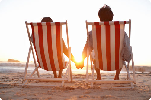 Couple in beach chairs / Cultivating Your Marriage and Guarding It from Impurity