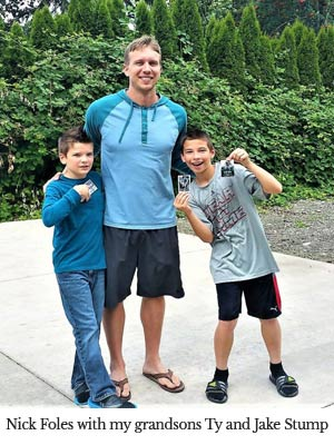 Nick Foles with Randy's grandsons