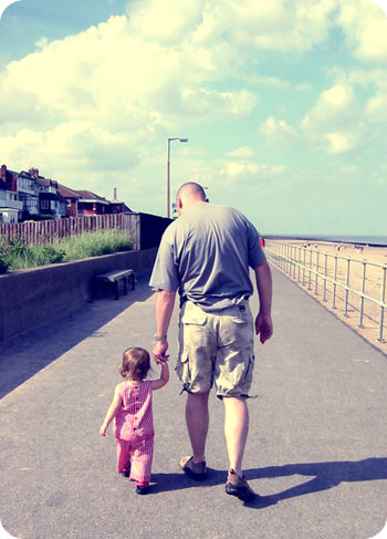 Can parents go overboard protecting their children? / father walking with daughter