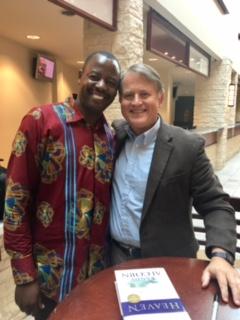 Randy and Pastor Johnson Bakashaba at Prestonwood