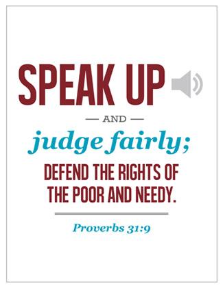 Speak up verse
