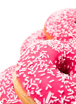 Donuts / Don't give your mind junk food. Be sure you're getting spiritual nutrition.