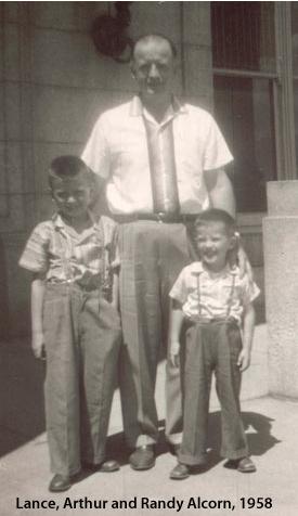 Arthur Alcorn with Lance and Randy