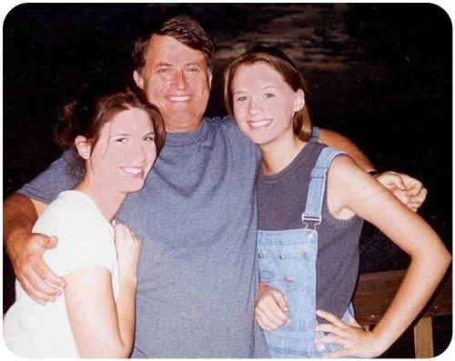 Randy with daughters Karina and Angela
