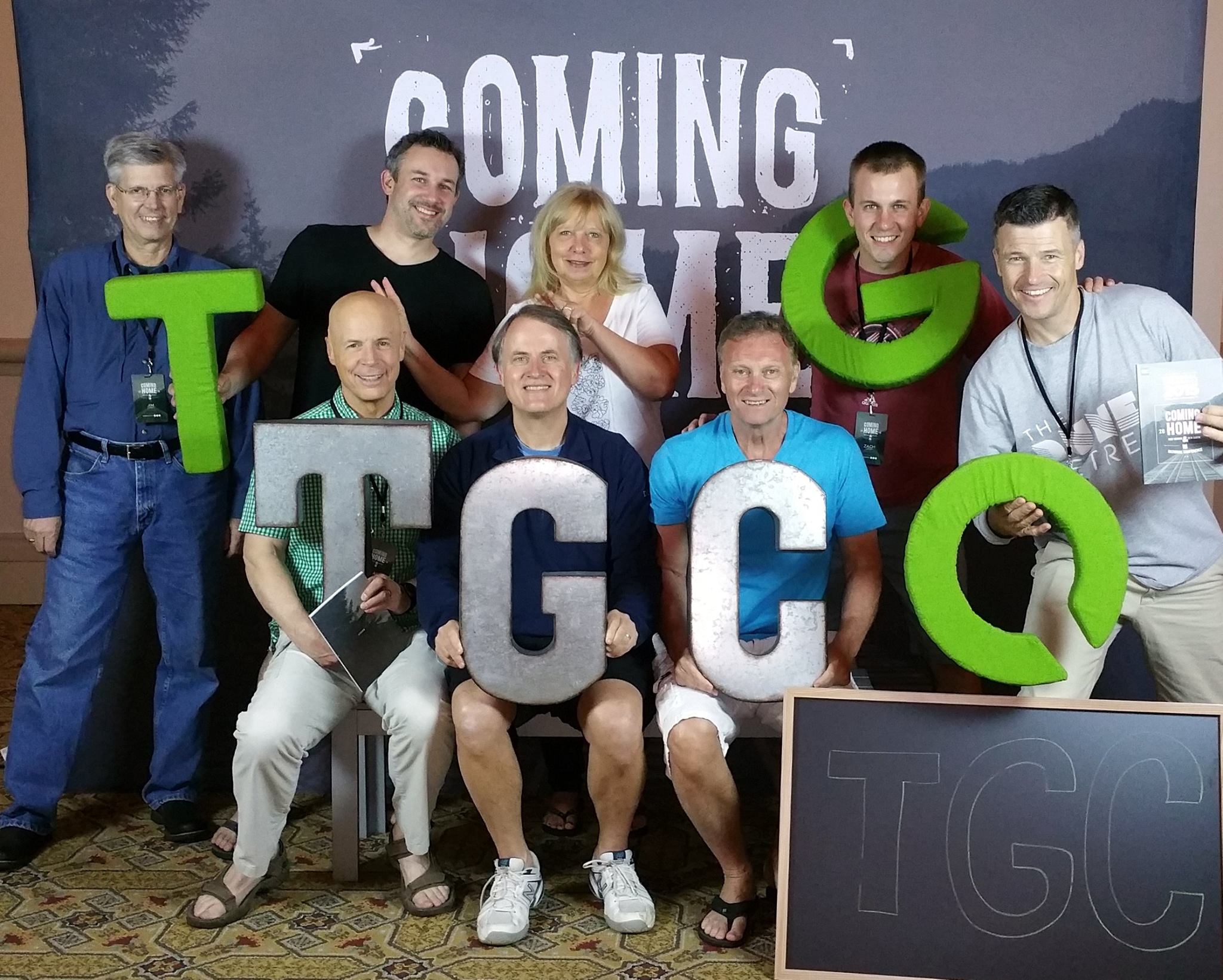 Randy and Nanci Alcorn, and GSCC Pastors, at TGC15