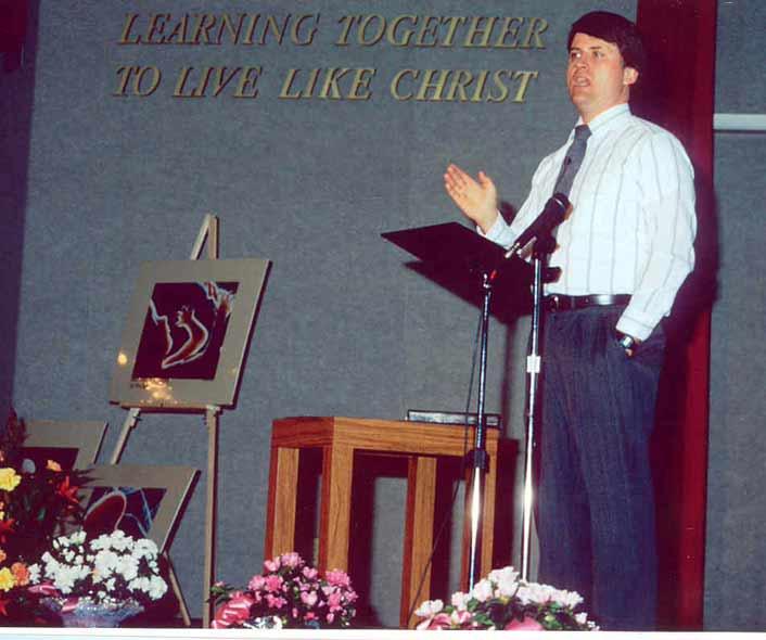 Randy preaching