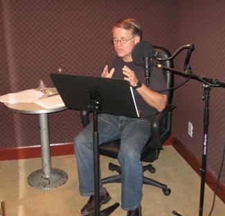 Randy recording audio