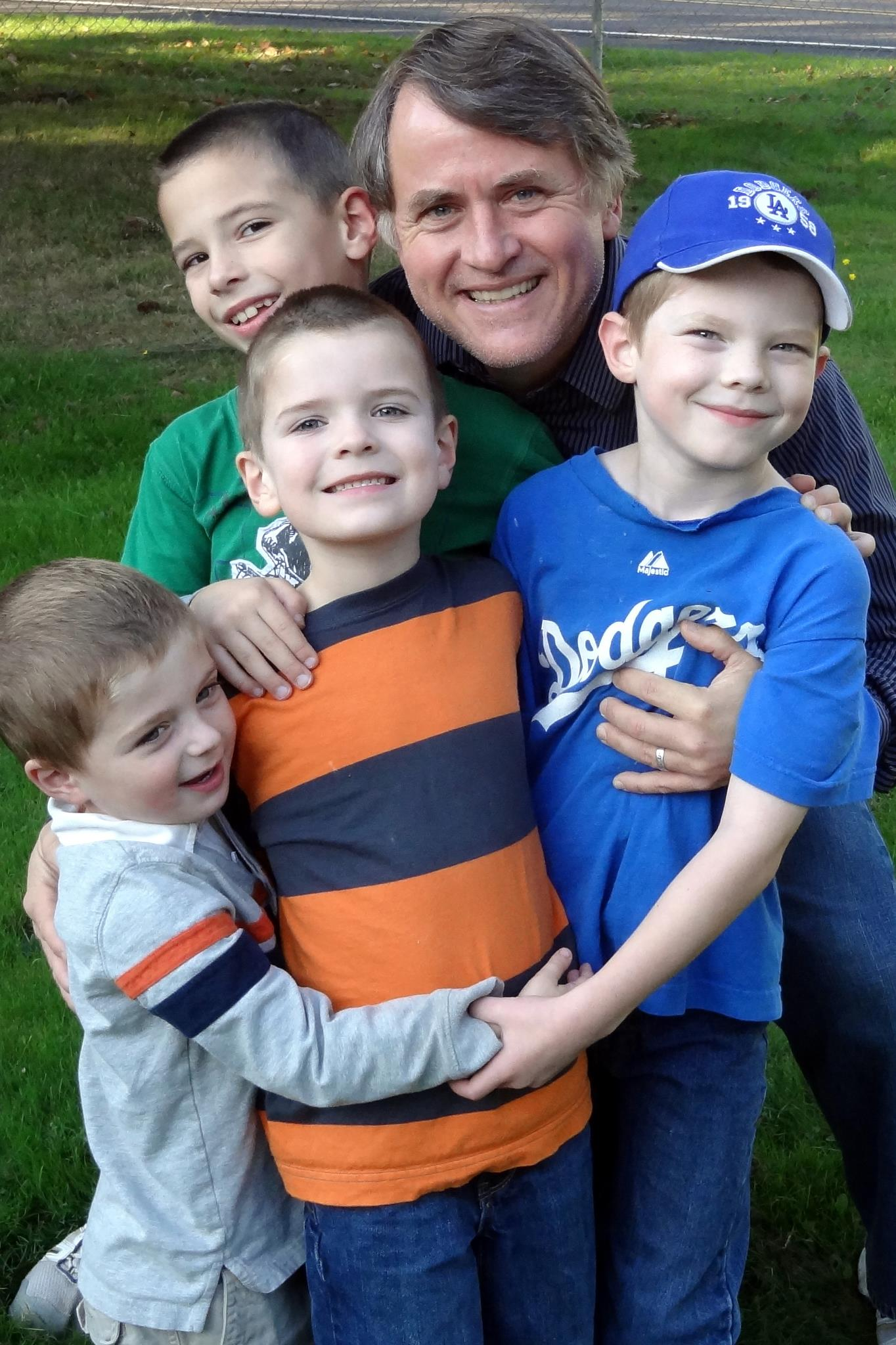 With all four grandsons