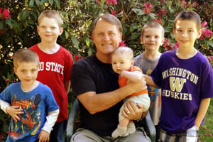 Randy and his 5 grandsons