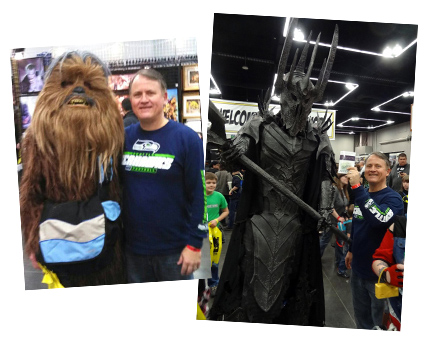 Randy Alcorn with Chewbacca and Sauron