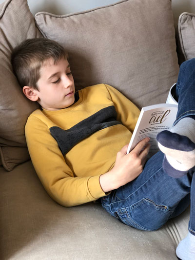 Young French reader