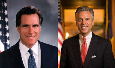 Mitt Romney and Jon Huntsman