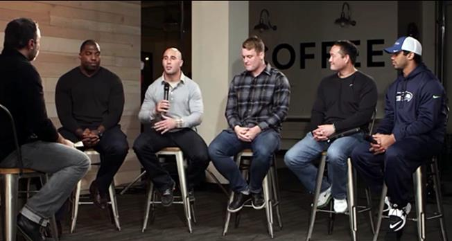 Driscoll interview with Seahawks players