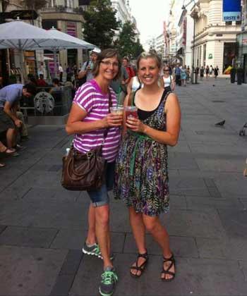 Shauna and her mom