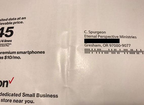 Mail addressed to Charles Spurgeon
