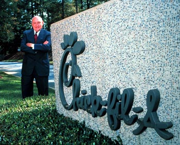 T. Cathy at Click-fil-A's headquarters