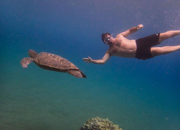 Tony with turtle