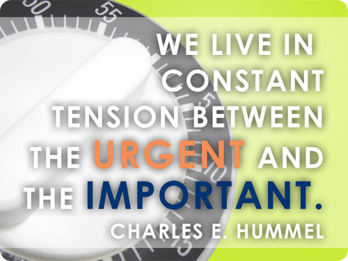 Urgent vs. the Important