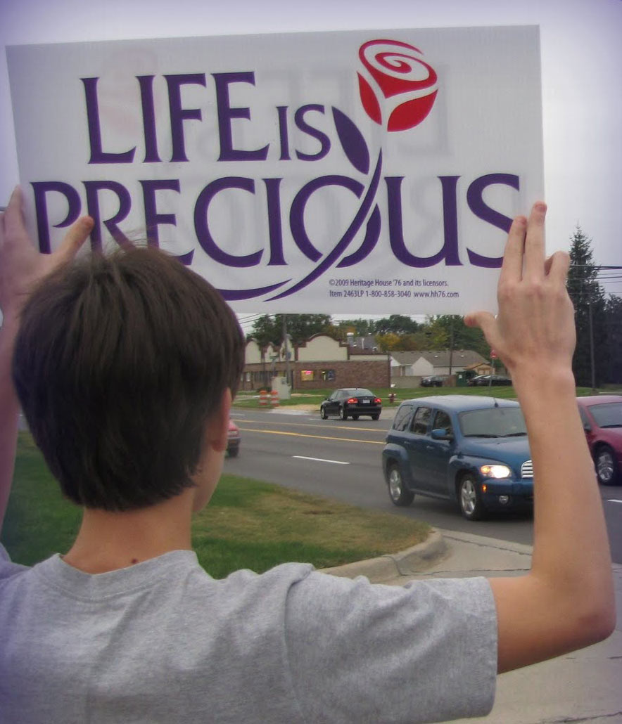 Prolife sign