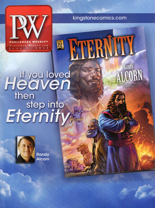 Eternity on the cover of Publisher's Weekly