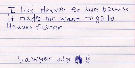 Heaven for Kids response