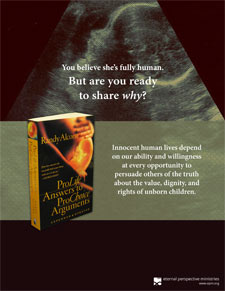 Promotional material for ProLife Answers to ProChoice Arguments