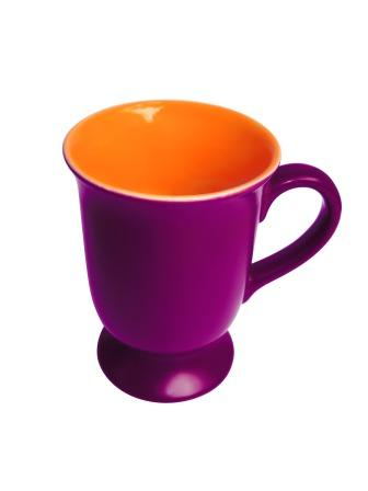 purple orange mug
